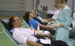 Moduls Rīga darbinieki brīvprātīgi ziedo asinis Donoru dienā